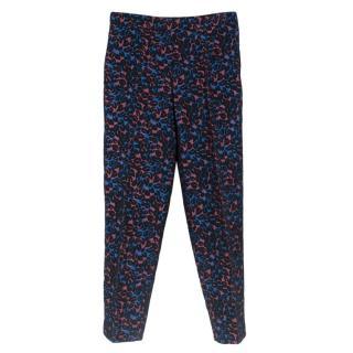 Miu Miu floral print trousers