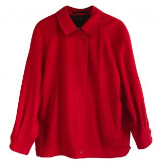 Burberrys Vintage Red Harrington Jacket