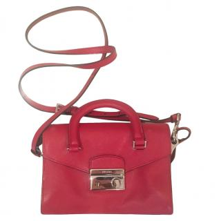 Prada Red Leather Small Crossbody Bag