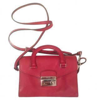 Prada Red Leather Small Crossbody Bag
