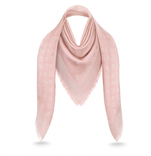 Louis Vuitton Rose Velours Shine Monogram Shawl