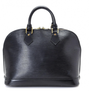 Louis Vuitton Black Epi Leather Alma Tote Bag