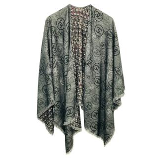 Chanel Cashmere Reversible Cape Shawl