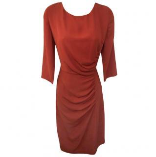 Farhi by Nicole Farhi Ruched Terracotta Dress