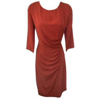 Farhi by Nicole Farhi Ruched Terracotta Dress