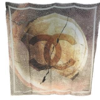 Chanel Cashmere & Silk Blend Large Shawl