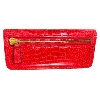 Tom Ford Red Alligator Leather Icon Clutch