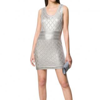 Balmain Metallic Knit Mini Dress