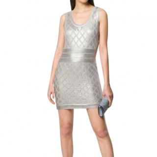 Balmain Metallic Knit Mini Dress