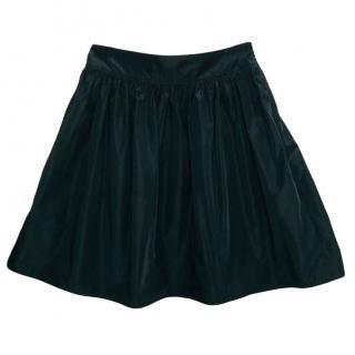 Burberry Black A-Line Mini Skirt