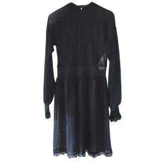 Dior Black Lace Semi Sheer Dress