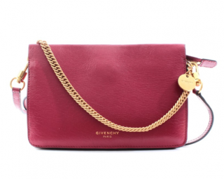 Givenchy Red Leather Chain Crossbody Bag