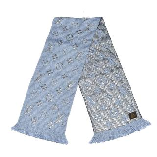 Louis Vuitton Wool Silk Logomania Shine Scarf