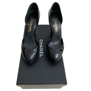 Chanel Black Patent Leather D'orsay Pumps