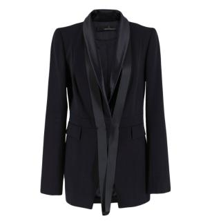 Amanda Wakeley Black Wool and Silk Blazer