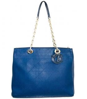 Dior Blue Cannage Leather Diorissimo Bag