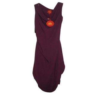 Vivienne Westwood Purple Wiggle Pencil Dress