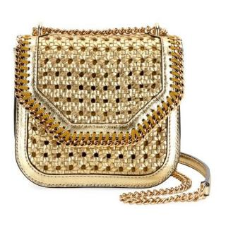 Stella McCartney Falabella Mini Woven Shoulder Box Bag