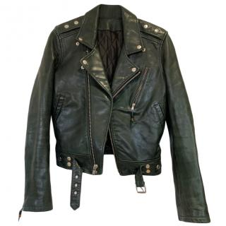 BLK DNM Green Leather Jacket