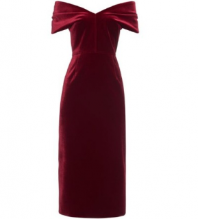 Emilio de la Morena Velvet Ruched Dress