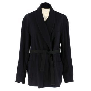 Isabel Marant Etoile Black Belted Wool Coat