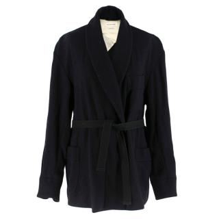Isabel Marant Etoile Black Belted Wool Coat