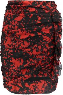 Isabel Marant ruffle trim silk blend mini skirt