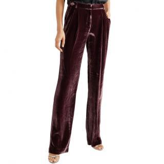 Michael Michael Kors silk blend velvet wide-leg trousers