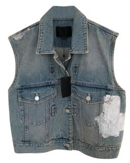 Alexander Wang Distressed Denim Vest