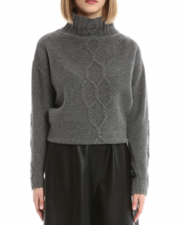 Max Mara Grey Wool & Cashmere Knit Jumper