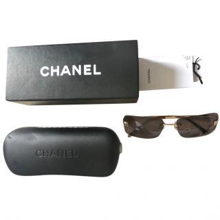 Chanel Vintage Brown Sunglasses