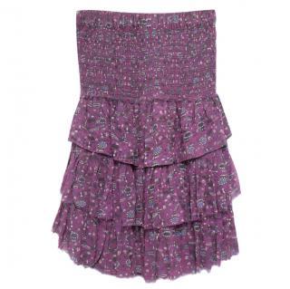 Isabel Marant layered purple mini dress