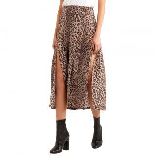 Rixo Leopard Print Georgia Skirt