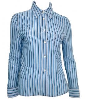 Prada Blue Striped Shirt