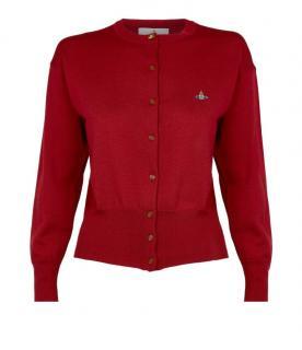 Vivienne Westwood Red Knit Orb Cardigan