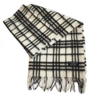 Burberry Cream Classic Check Cashmere Scaef