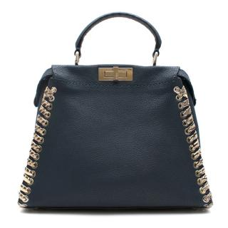 Fendi Peekaboo Iconic Medium with Snake Whipstitch