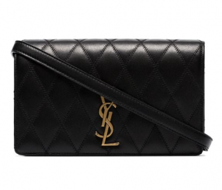 Saint Laurent Black Angie quilted leather shoulder bag