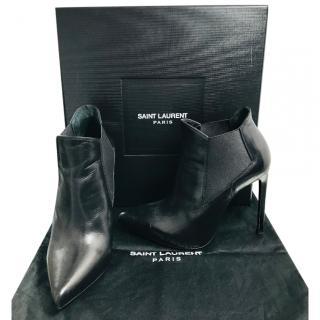Saint Laurent Black Ankle Boots