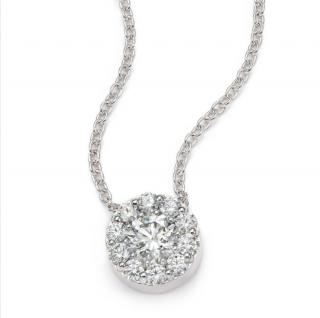 Hearts On Fire diamond halo pendant