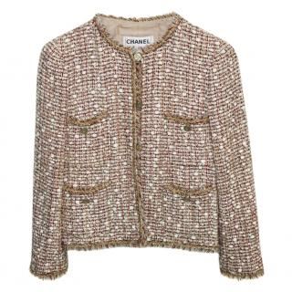 Chanel Beige Tweed Classic Jacket
