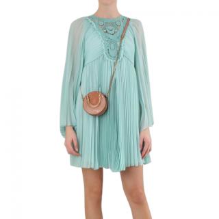 Chloe Turquoise Blowy Blue Chiffon Collector's Item Dress