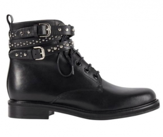 Maje Black Leather Flint Boots
