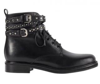 Maje Black Leather Flint Boots