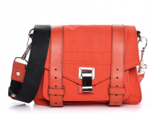 Proenza Schouler Nylon Calfskin PS1 Messenger in Fire Red
