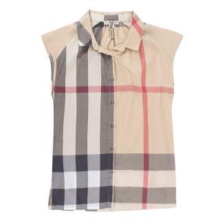 Burberry Kids House Check Sleeveless Shirt