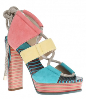 Jimmy Choo Halley Suede Platform Sandals