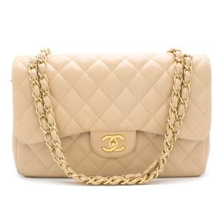 Chanel Beige Clair Large Classic Flap Bag