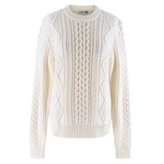 JW Anderson x Uniqlo Bone White Cable Knit sweater