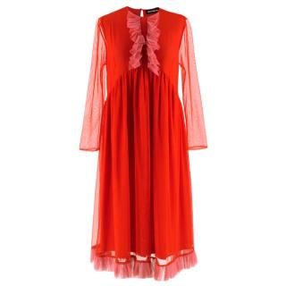 House Of Holland Red and Pink Tulle Dress